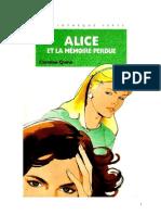 Caroline Quine Alice Roy 72 BV Alice et la mémoire perdue  1989.doc