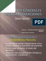Principios Generales de Las Preparaciones (Descripccion)