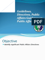 Directives on Public Affairs