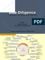 Due Diligence - Indonesian Coal Seminar, 19 Maret 2009