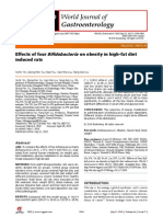 Effects of Four Bifidobacteria on Obesity in High-fat Diet