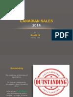 Canadian Sales 2014