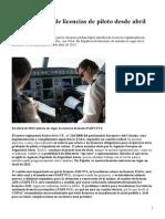 Nuevo Sistema de Licencias de Piloto_desde Abril de 2013