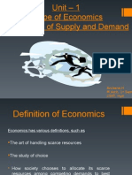 Unit-1 Scope of Economics Mechanism of Supply and Demand