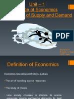 Unit-1 Scope of Economics Mechanism of Supply and Demand