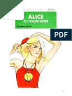 Caroline Quine Alice Roy 68 BV Alice et l'ancre brisée 1983.doc