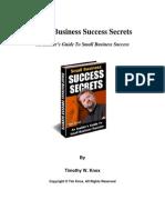 Small Business Success Secrets
