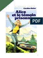 Caroline Quine Alice Roy 64 BV Alice et le témoin prisonnier 1981.doc