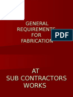 Fabrication & Mcng Requirements for Trg