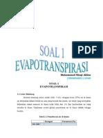 Soal 1 Evapotranspirasi