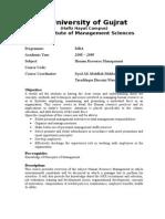 Mgt-318 Human Resource Management