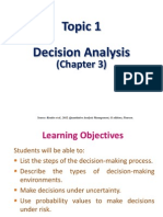 Topic 1 Decision Analysis Chapter 3