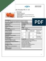 Pneumatic Actuator 11 21 Datasheet English
