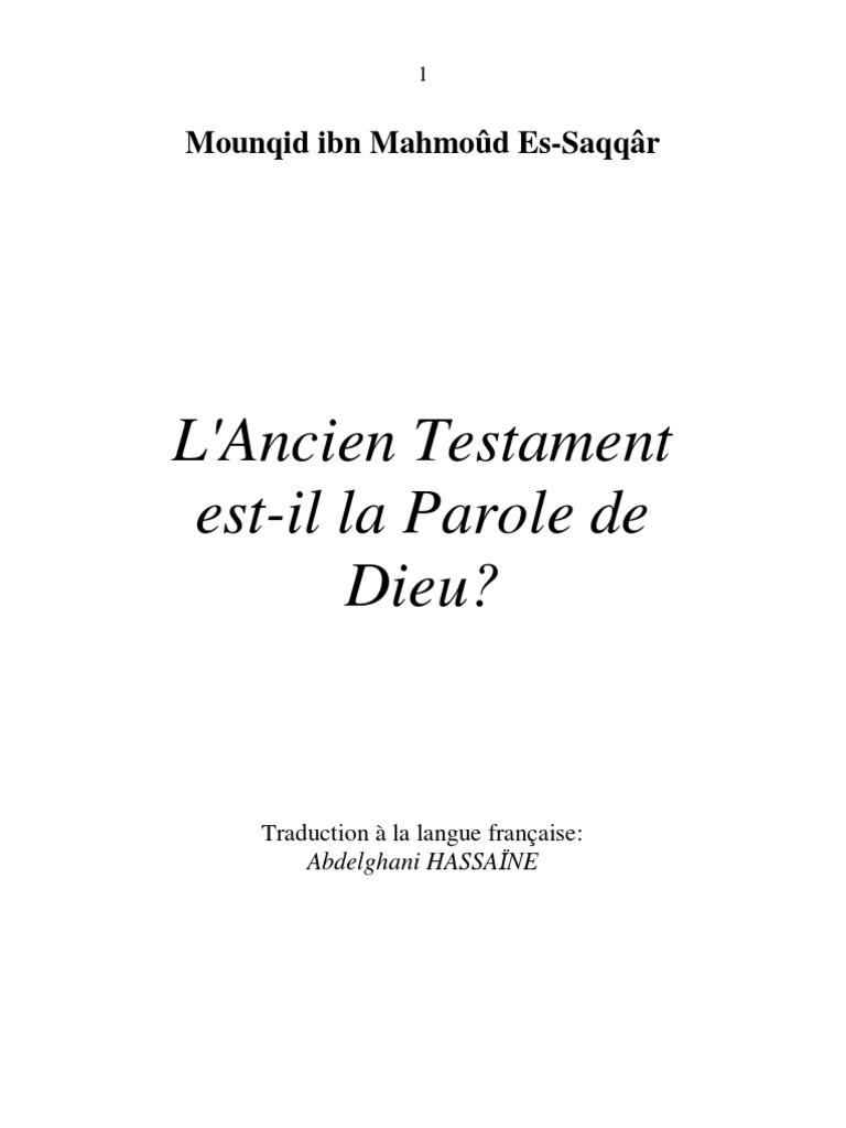 Parmi les livres de lAncien Testament, la Genèse est lun des livres qui sont les plus commentés.
