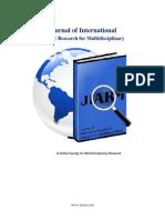 Journal of International Academic Research for Multidisciplinary
