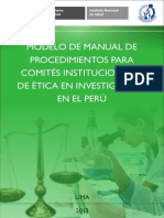 Modelo Manual de Proc Para Comites de Etica