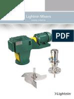 LIGHTNIN Top Entry Mixers Agitadores Impellers