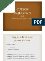 4.4 Cursor (SQL Server)