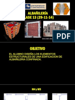 Clase 13 - Albañileria