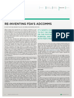 Re-Inventing FDA's Advisory Committees