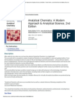 Analytical Chemistry - A Modern Approach to Analytical Science - Second Edition