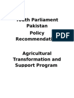 Agricultural Policy Recommendation