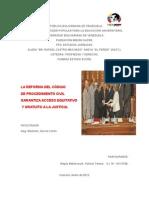Análisis de La Reforma Del Cpc