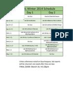 6BL W15 Lab Schedule
