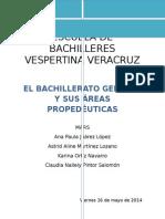 El Bachillerato General y Sus Áreas Propedéutica Antologia