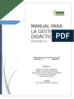 Manual Para La Gestión Didactica