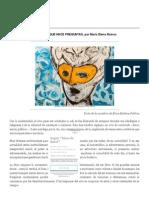 Ética-Estética-Política ARTE QUE HACE PREGUNTAS, Por María Elena Ramos _ Ideas de Babel
