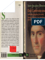 1. Rousseau - (Alianza) Del contrato social + Discursos OD y CyA