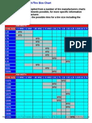 Rim Width Tire Size Chart >> Motorcycle Rim Width Tire Size Chart