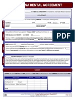 Montana Rental Agreement Form
