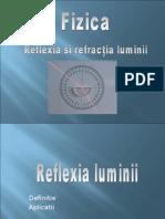 Proiect Fizica - Reflexie Si Refractie-Gr 1