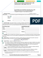 Missouri Health Care Power of Attorney Form