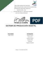 Sistema de Produccion Vegetal y Forestal