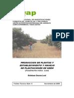 FolletoNEEM_ESTABLECIMIENTO Y MANEJO DE PLANTACIONES DE NEEM (Azadirachta indica Juss)2000