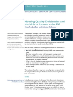 Housing Policy and Bad Housing Conditions Problem.housing Quality Deficiencies and the Link to Income in the EU