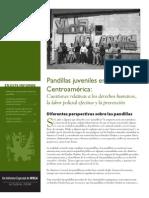 Pandillas juveniles en Centroámerica — reporte por WOLA