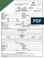 Formulario Solicitud Visa No Inmigrante 082013