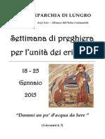 Unità Dei Cristiani - Ufficiatura Diocesana 2015