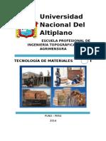 Tecnología de Materiales - I