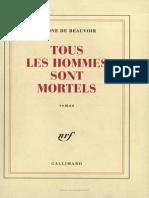 Simone de Beauvoir- Tous Les Hommes Sont Mortels