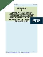 MÓDULO 1 FORMULACION DE PROYECTOS DE INVERSIÓN PUBLICA
