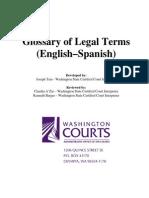 Glossary of Legal Tesadasdasdasdrms - English-Spanish