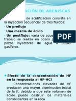 Acidificación de Areniscas