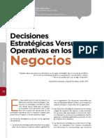 Decisiones Estrategicas vs Operativas