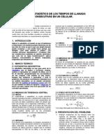 Análisis Estadístico de Los Tiempos de Llamada Consecutivas en Un Celular.