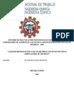 Informe de Practicas- Analisis Bromatologico de Leche